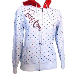 Burton | speckled white double hood hoodie